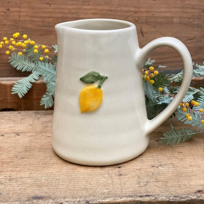 Lemon ceramic jug