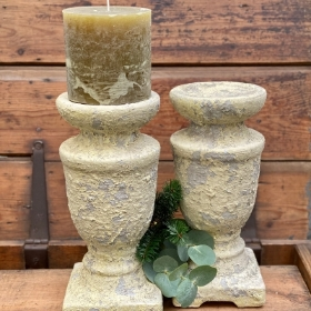 Rustic Cream Candle sticks
