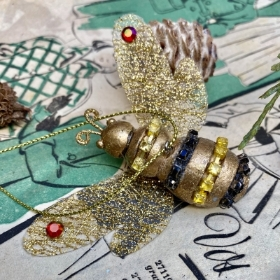 Festive Gold Bee decoration