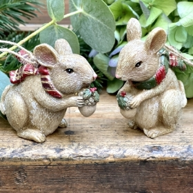 Festive Mice Hanging decorations