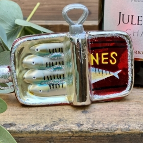 Glass Sardine tin Decoration