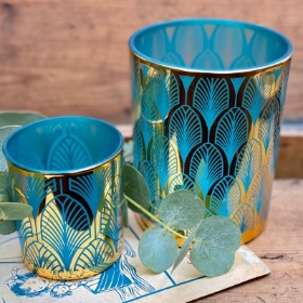 Turquoise Candle Votive